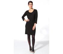 Damen Strickkleid Merinowolle schwarz