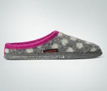 Damen Schuhe Pantoffeln im Punkte-Dessin