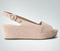 Damen Schuhe Wedges aus Veloursleder