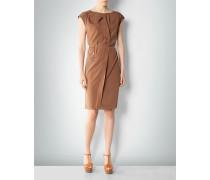 Kleid mit Faltendetail aus Seidenstretch
