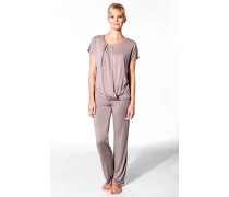 Damen Nachtwäsche Pyjama Modal mauve