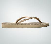 Damen Schuhe Zehensandale im Animialprint