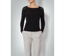 Damen Pullover mit Lochmuster in Spitzen-Optik