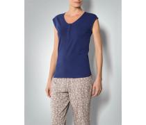 Damen Pyjama-Shirt mit Knopfleiste