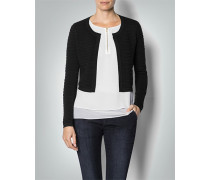 Damen Pullover Bolero mit Strukturstreifen
