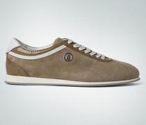Damen Schuhe Sneaker Velours-Lack khaki