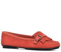 Damen Schuhe Mokassin Veloursleder