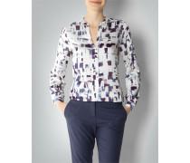 Damen Bluse mit abstrakt-geometrischem Dessin