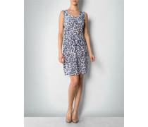Damen Kleid aus Seide mit Leo-Print ,weiß