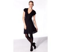 Damen Jerseykleid Viskose-Wolle nacht