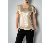 Damen T-Shirt im Metallic-Look