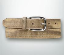 Damen Gürtel Gürtel im Metallic-Look
