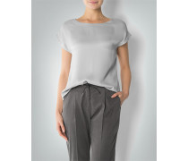 Shirt-Bluse aus Crêpe-Satin