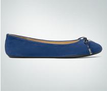 Damen Schuhe Ballerina aus Veloursleder