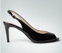 Damen Schuhe Peeptoe in Glanzleder-Optik