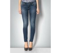 Damen Jeans mit Reißverschlussdetails