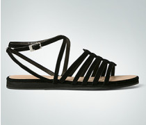 Damen Schuhe Riemenchensandale mit flachem Plateau-Absatz