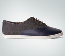 Damen Schuhe Sneaker im Canvas-Leder-Mix