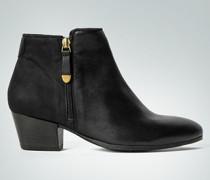 Damen Schuhe Stiefelette im Nubuk-Glattleder-Mix