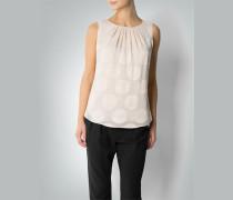 Damen Blusen-Top in glänzendem Polka Dot-Dessin