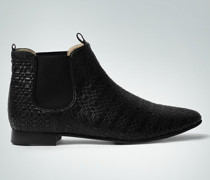 Damen Schuhe Chelsea-Boots in Flecht-Optik schwarz