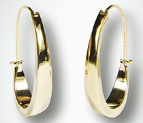 Damen Schmuck Ohrringe in ovaler Form