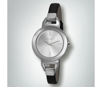 Damen Uhr Armbanduhr mit zierlichem Lederband