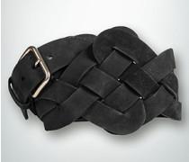 Damen Gürtel Geflochtener Taillengürtel aus Nubukleder
