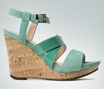 Damen Schuhe Wedge-Sandalette in Ledermix und Kork