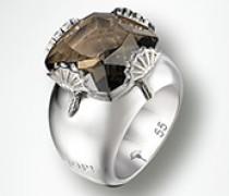 Damen Schmuck Ring Rauchquarz 925er Sterlingsilber