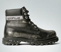 Damen Schuhe Stiefelette mit Metallic-Beschichtung