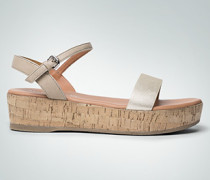 Damen Schuhe Sandale in Korkoptik