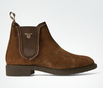 Damen Schuhe Chelsea Boots aus Veloursleder