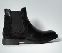 Damen Schuhe Chelsea Boots aus Velours- und Glattleder