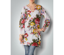 Damen Bluse Tunika aus Baumwoll-Voile