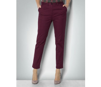 Damen Hose Knöchellange Chino in Bordeaux