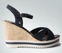 Damen Schuhe Wedge-Sandaletten aus Nubukleder