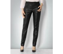 Damen Hose in Metallic-Optik