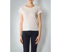 Damen T-Shirt mit Fransen-Ausschnitt