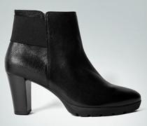 Damen Schuhe Stiefeletten mit Elastikband schwarz