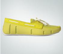 Damen Schuhe Loafer aus Mesh und Kautschuk