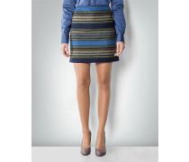 Damen Mini- Rock aus Schurwolle im Streifen-Dessin