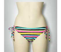Damen Bademode Bikini-Slip mit Streifen-Dessin