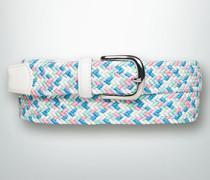 Damen Gürtel Elastischer Flechtgürtel aus Textil