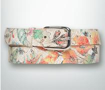 Damen Gürtel Ledergürtel mit Flower Print