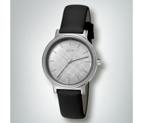 Damen Uhr Armbanduhr mit Zierrand in Silber-Optik