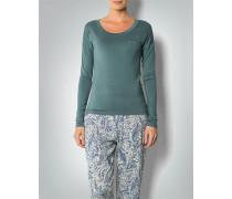 Damen Pyjama-Shirt mit großem Rundhals-Ausschnitt