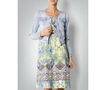 Damen Jeansjacke mit Allover-Print