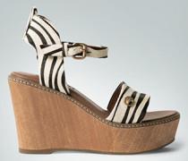 Schuhe Wedges mit bedrucktem Fell