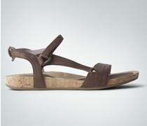 Damen Schuhe Sandalette im Metallic Look
